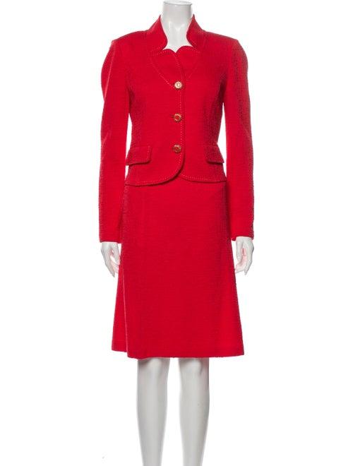 St. John Skirt Suit Red