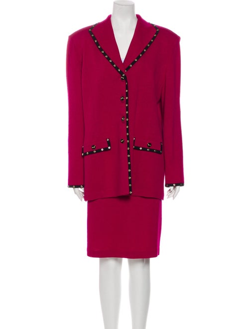 St. John Skirt Suit Pink