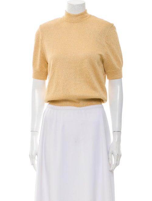 St. John Vintage Mock Neck Sweater Gold
