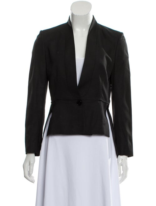 Stella McCartney High-low Collarless Blazer Black