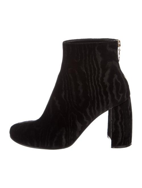 Stella McCartney Velvet Ankle Boots Black