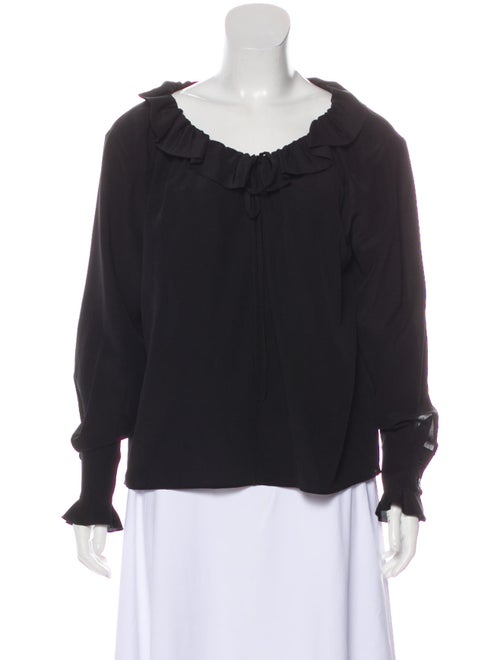 Stella McCartney Silk Ruffle Blouse Black