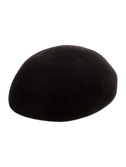 Stella McCartney 2016 Wool Beret Black