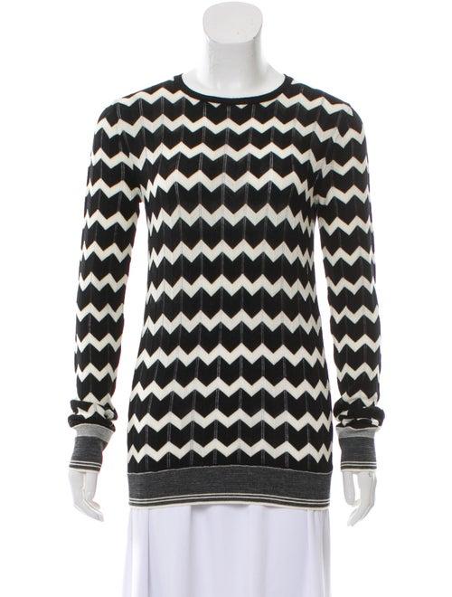 Stella McCartney Chevron Knit Sweater Black