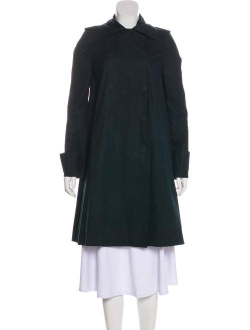 Stella McCartney Knee-Length Trench Coat Navy