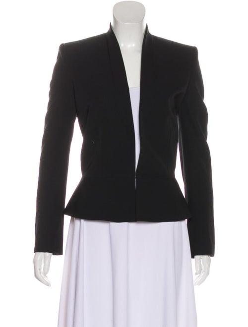 Stella McCartney Wool Collarless Blazer Black