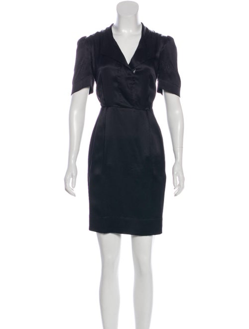 Stella McCartney Silk Swiss Dot Dress Black