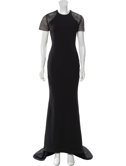 Stella McCartney Short Sleeve Evening Dress Black