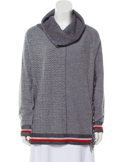 Stella McCartney Virgin Wool Chevron Sweater Grey