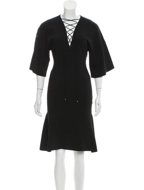 Stella McCartney 2018 Lace-Up Dress w/ Tags Black