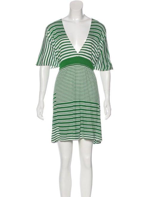 Stella McCartney Mini Knit Dress Green