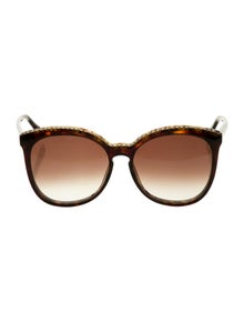 Stella McCartney Oversize Chain-Link Sunglasses w/ Tags