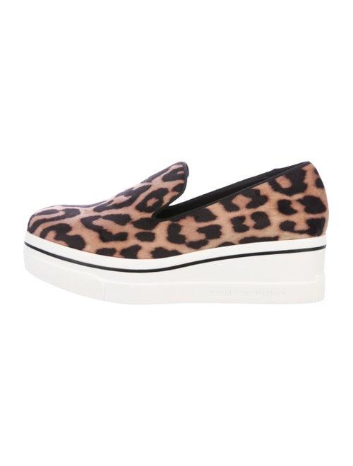Stella McCartney Velvet Platform Sneakers Tan