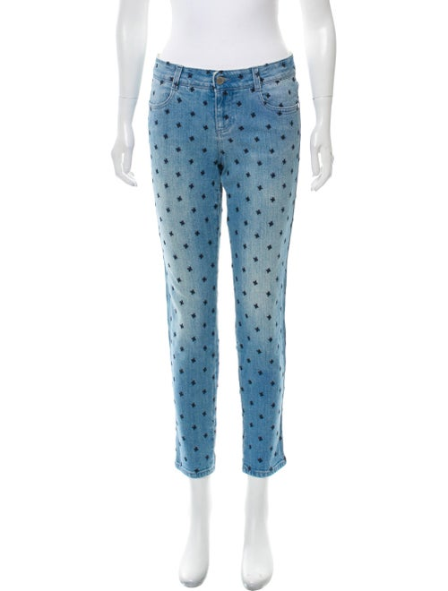 Stella McCartney Embroidered Skinny Jeans blue