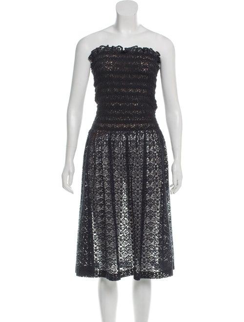 Stella McCartney Smocked Lace Dress Navy
