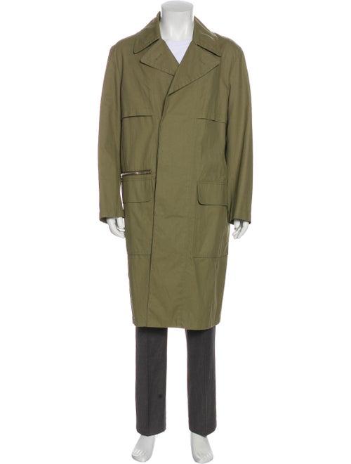 Stella McCartney Woven Trench Coat olive