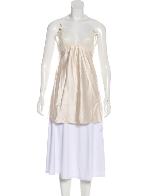 Stella McCartney Silk Mini Nightgown Beige