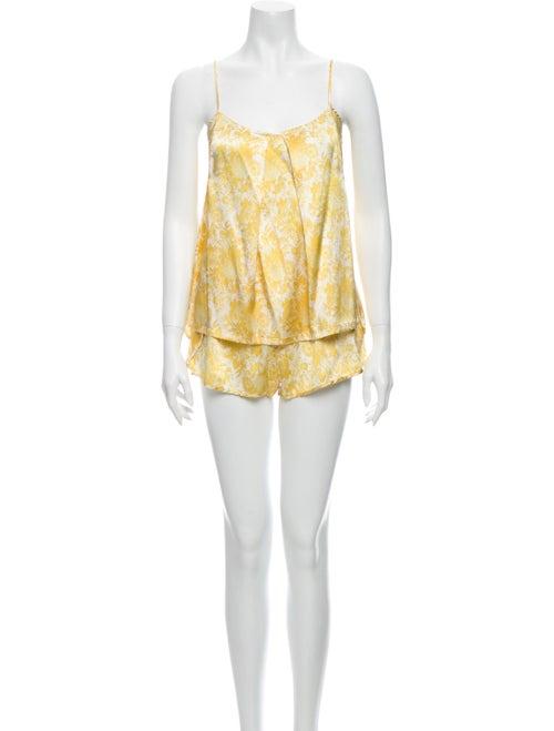 Stella McCartney Silk Floral Print Lounge Set Yell