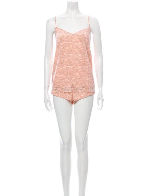 Stella McCartney Silk Lounge Set Pink