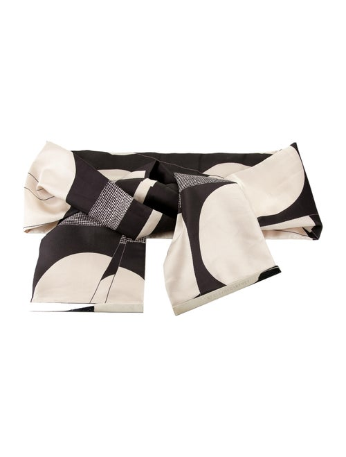 Stella McCartney Printed Satin Belt Black