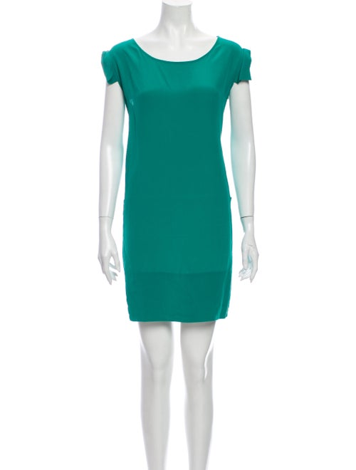 Stella McCartney Silk Mini Dress Green