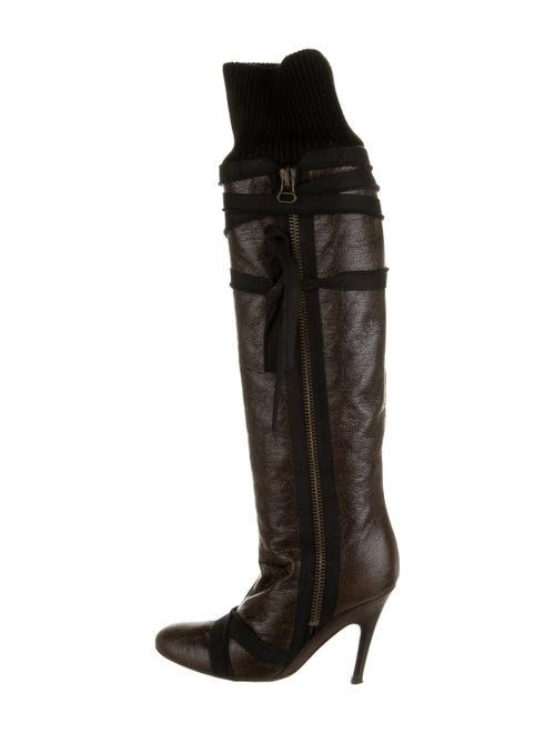 Stella McCartney Leather Boots Brown