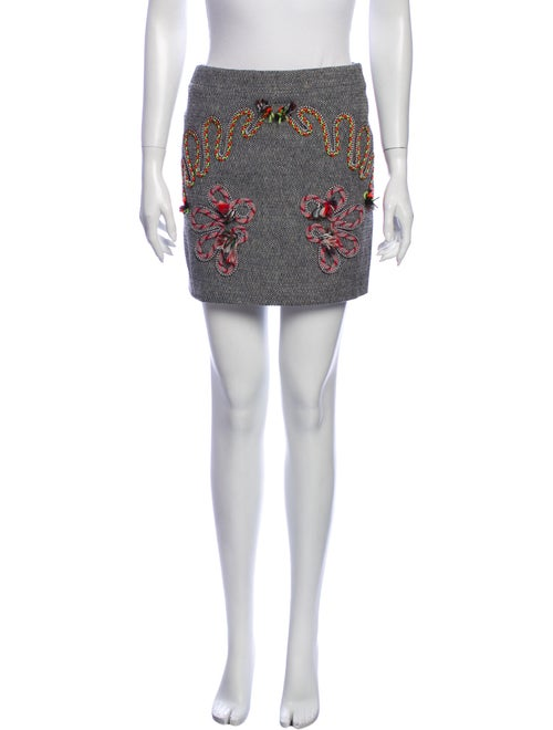 Stella McCartney Printed Mini Skirt Black