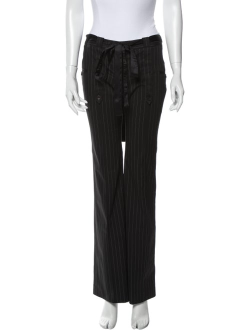 Stella McCartney Striped Wide Leg Pants Black