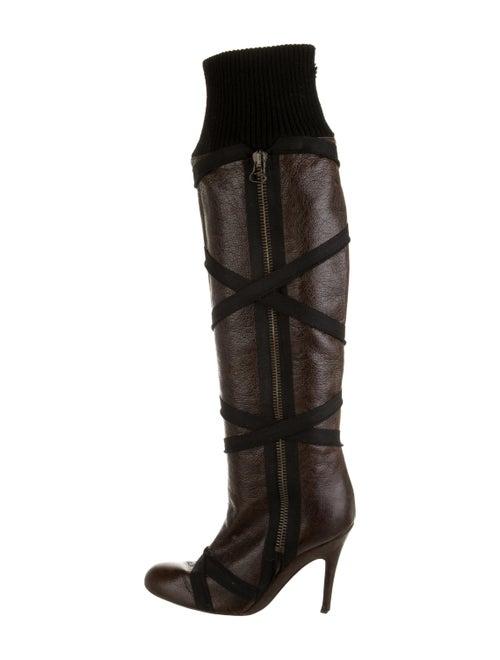 Stella McCartney Vegetarian Leather Boots Brown