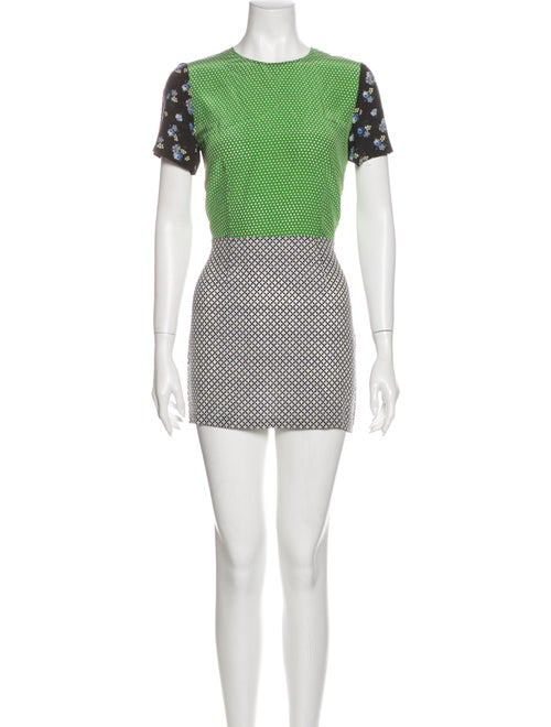 Stella McCartney Silk Mini Dress Green