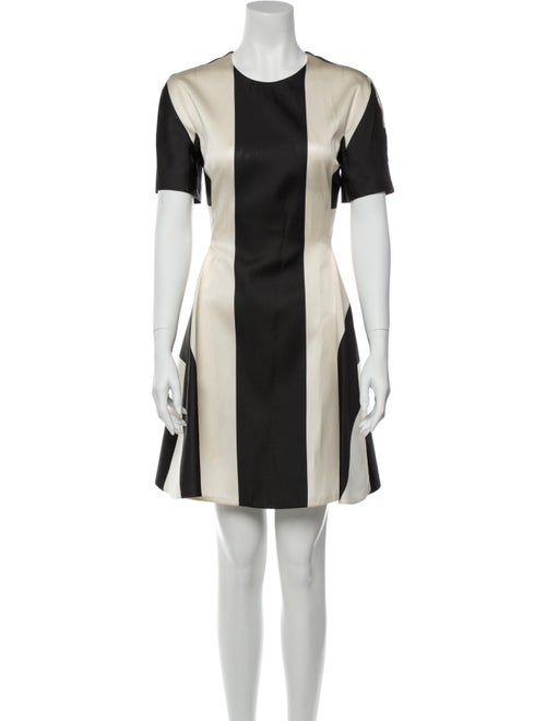 Stella McCartney Colorblock Pattern Mini Dress Bla