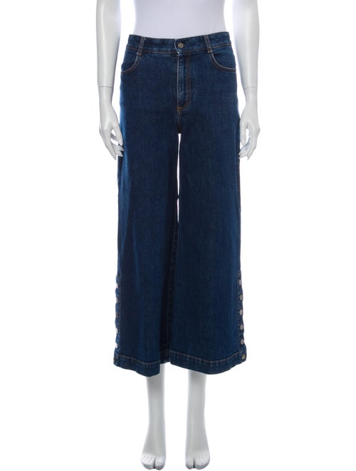 Stella McCartney High-Rise Wide Leg Jeans Blue