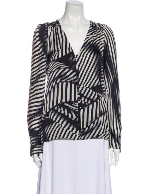 Stella McCartney Silk Striped Blouse Black
