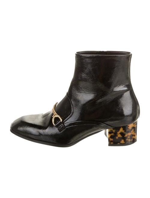 Stella McCartney Patent Leather Animal Print Boots
