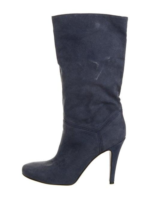 Stella McCartney Vegetarian Suede Boots Blue