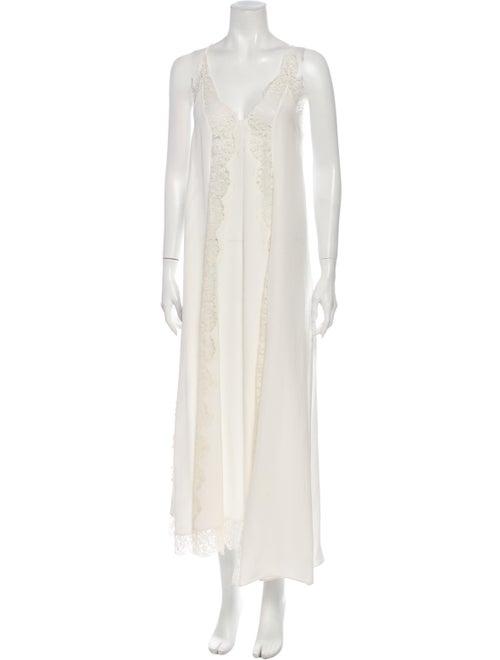 Stella McCartney Silk Long Dress White