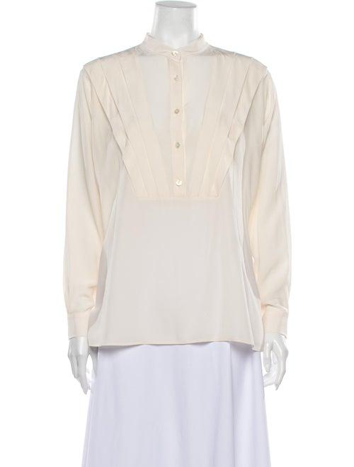 Stella McCartney 2019 Silk Blouse White