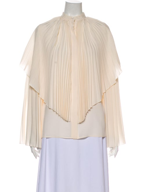 Stella McCartney Silk Mock Neck Blouse