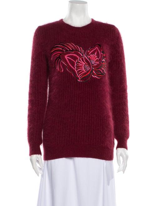 Stella McCartney Angora Graphic Print Sweater Red