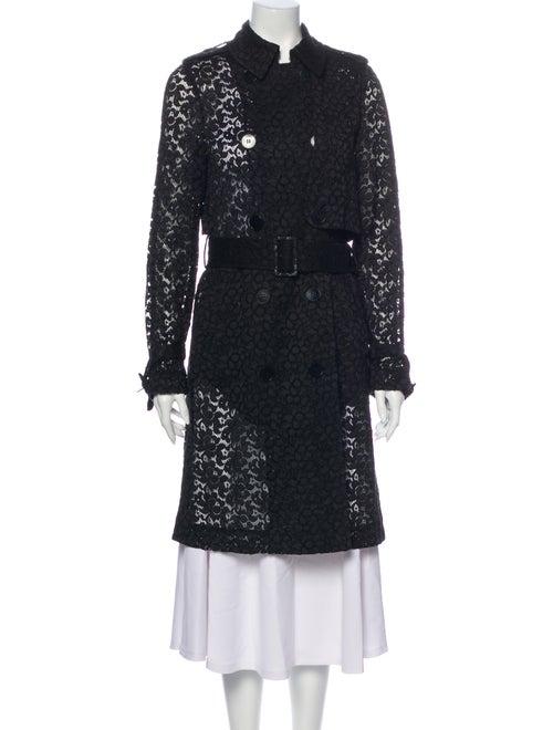 Stella McCartney Lace Pattern Trench Coat Black