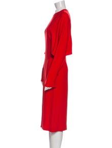 Stella McCartney Crew Neck Midi Length Dress