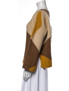 Stella McCartney Wool Colorblock Pattern Sweater