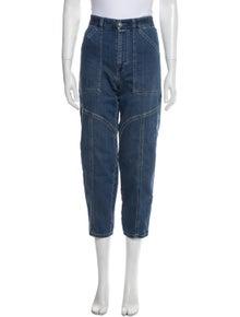 Stella McCartney High-Rise Straight Leg Jeans