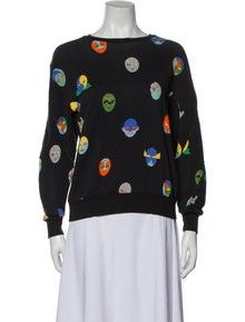 Stella McCartney Printed Crew Neck Sweatshirt
