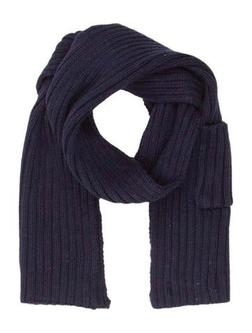 Stella McCartney Kids Rib Knit Scarf None