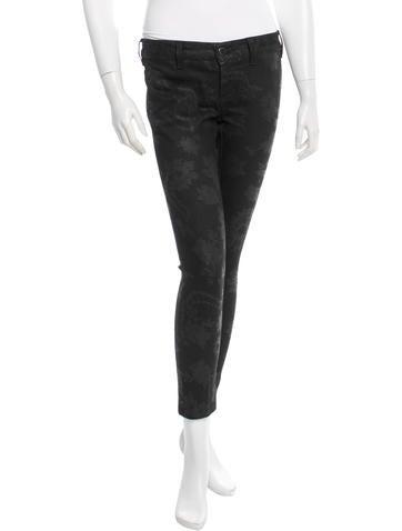 Lace-Printed Skinny Pants
