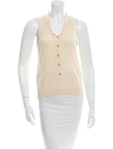 Stella McCartney Sleeveless Button-Up Top None