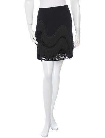 Stella McCartney Fringe-Trimmed Mini Skirt w/ Tags None