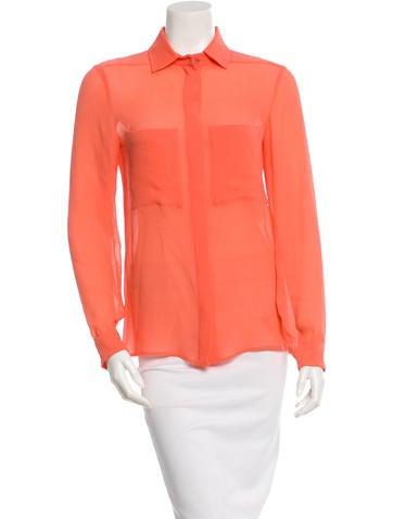 Stella McCartney Silk Button-Up Top