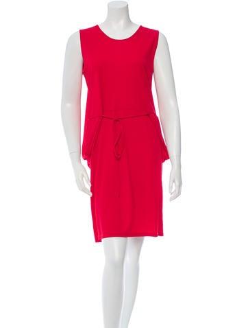 Stella McCartney Lace Up Crew Neck Dress